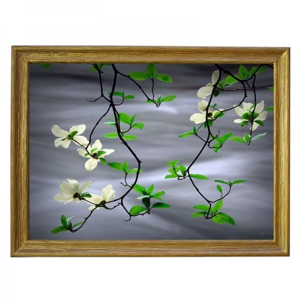 Картина обогреватель «Цветущая ветка над водой» 70X90 см. (0.5 кВт.)