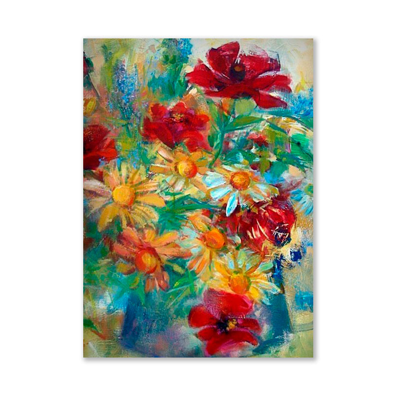 Картина обогреватель «Цветы» 60X80 см. (0.5 кВт.)