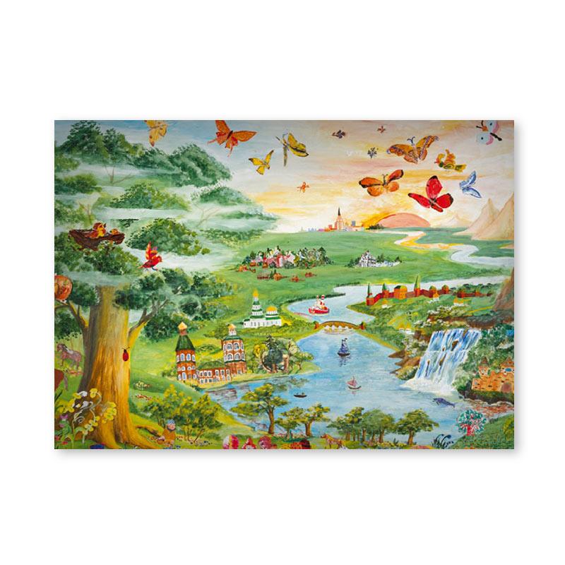 Картина обогреватель «Детям» 60X80 см. (0.5 кВт.)