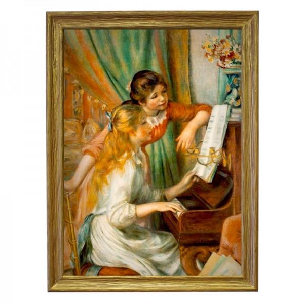 Картина обогреватель «Девушки у пианино» в рамке ПВХ 70X90 см. (0.5 кВт.)