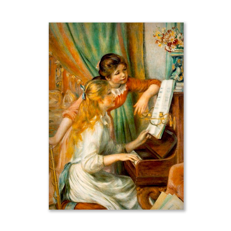 Картина обогреватель «Девушки у пианино» 60X80 см. (0.5 кВт.)