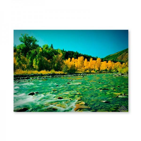 Картина обогреватель «Горная река» 60X80 см. (0.5 кВт.)