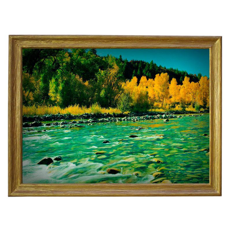 Картина обогреватель «Горная река» 70X90 см. (0.5 кВт.)