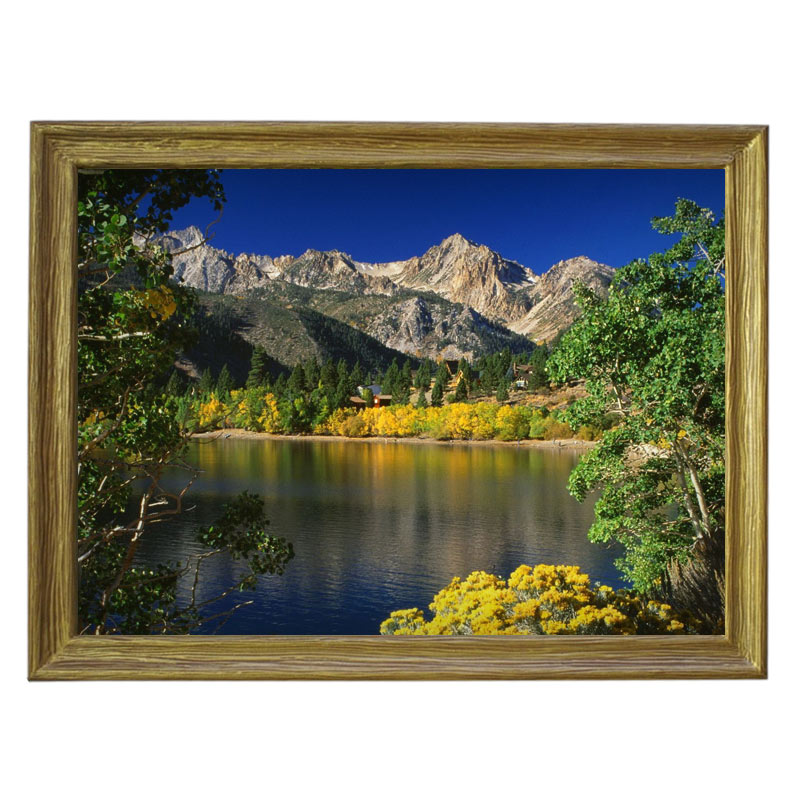 Картина обогреватель «Горное озеро» в рамке ПВХ 70X90 см. (0.5 кВт.)