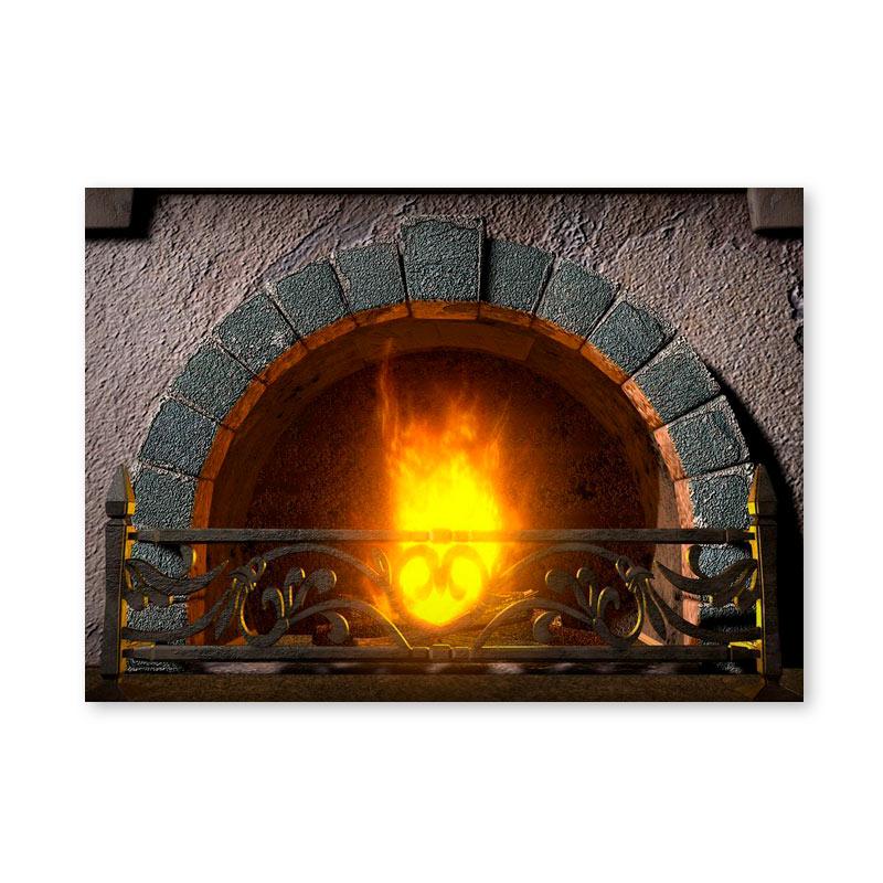 Картина обогреватель «Горящий камин» 60X80 см. (0.5 кВт.)