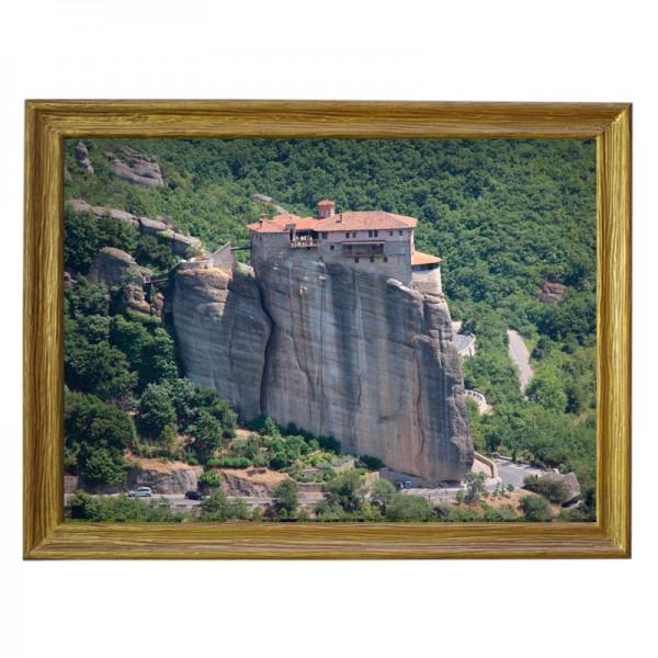 Картина обогреватель «Греция. Метеоры 2» в рамке ПВХ 70X90 см. (0.5 кВт.)