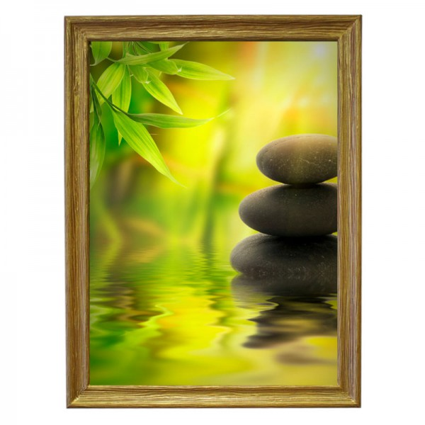 Картина обогреватель «Камни» в рамке ПВХ 70X90 см. (0.5 кВт.)