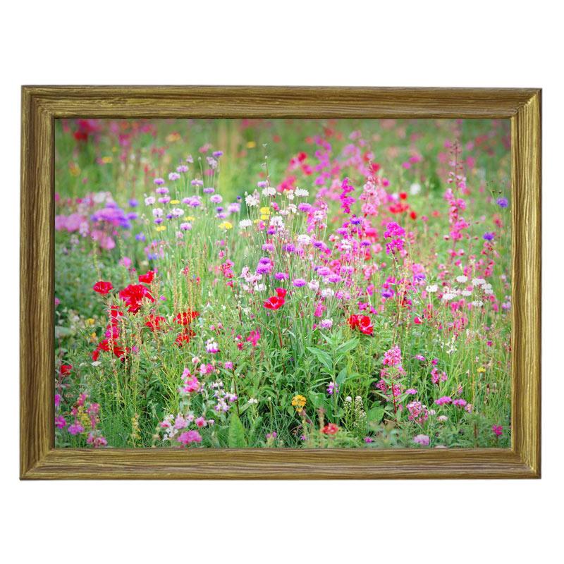 Картина обогреватель «Луговые цветы» в рамке ПВХ 70X90 см. (0.5 кВт.)