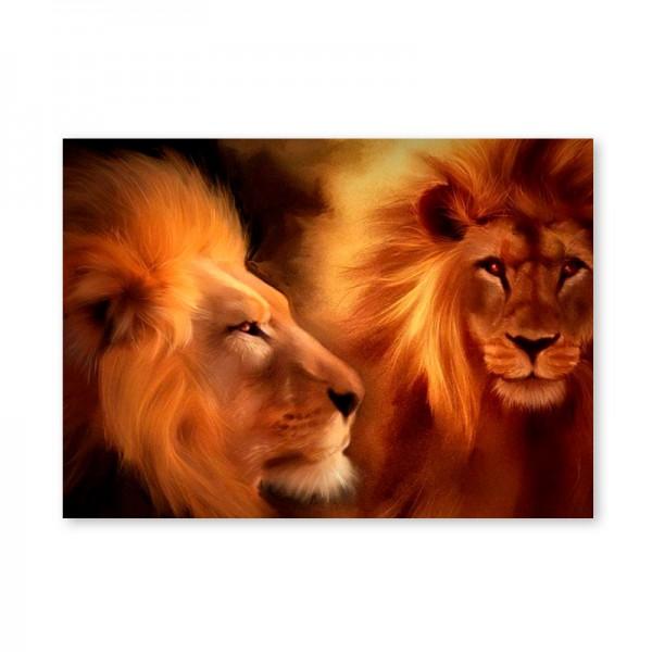 Картина обогреватель «Львы» 60X80 см. (0.5 кВт.)