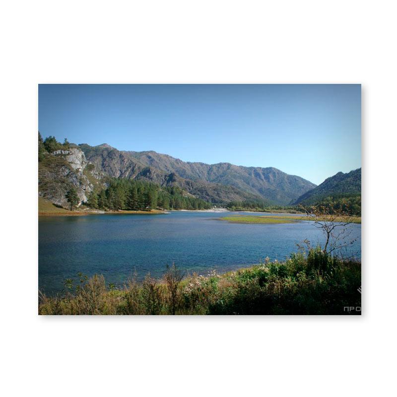 Картина обогреватель «Озеро в горах» 60X80 см. (0.5 кВт.)