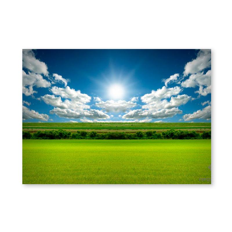 Картина обогреватель «Поле, солнце, облака» 60X80 см. (0.5 кВт.)