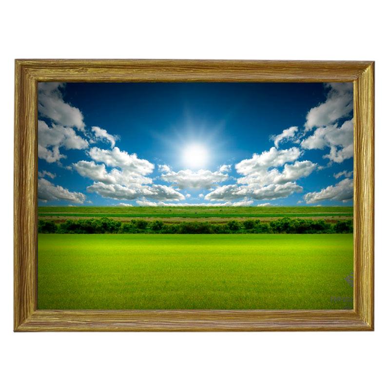 Картина обогреватель «Поле, солнце, облака» 70X90 см. (0.5 кВт.)