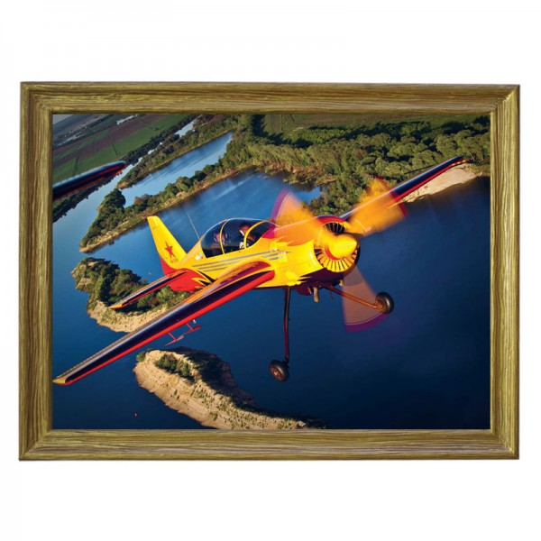 Картина обогреватель «Самолёт 1» в рамке ПВХ 70X90 см. (0.5 кВт.)