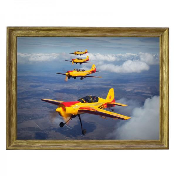 Картина обогреватель «Самолёты» в рамке ПВХ 70X90 см. (0.5 кВт.)