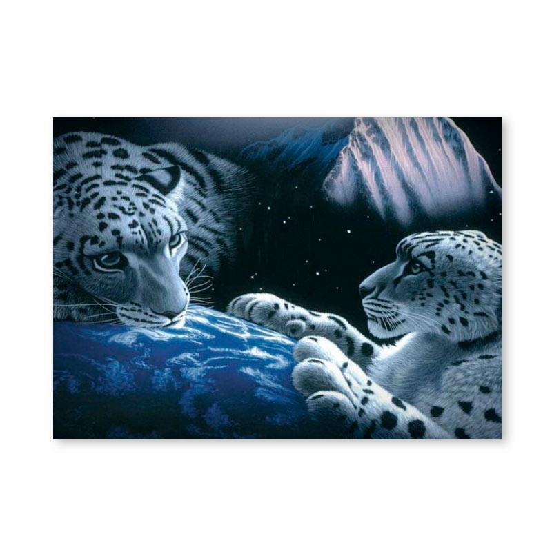 Картина обогреватель «Снежные барсы» 60X80 см. (0.5 кВт.)