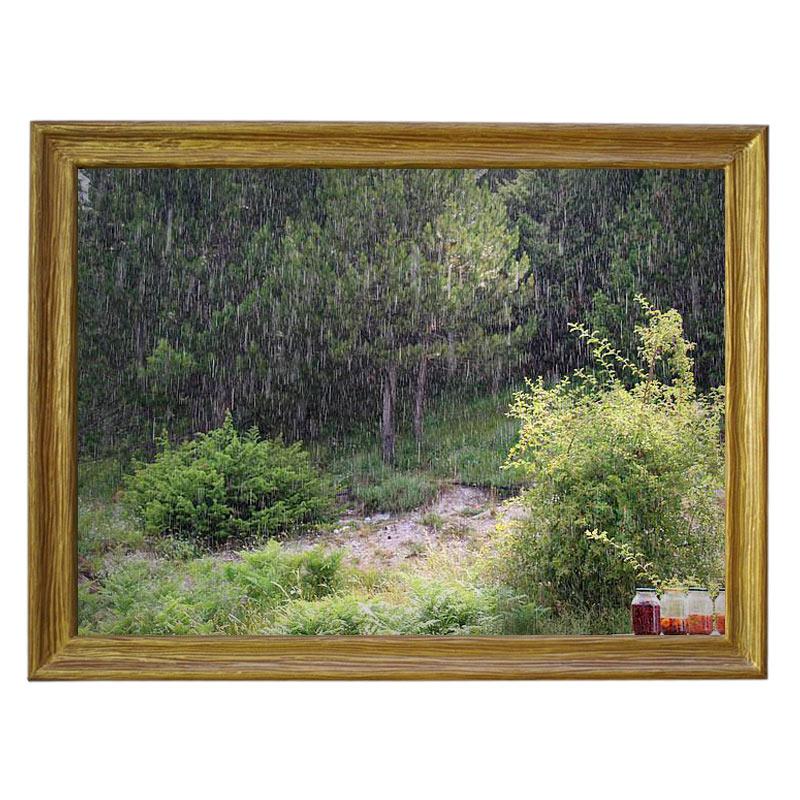 Картина обогреватель «Варенье под дождем» в рамке ПВХ 70X90 см. (0.5 кВт.)