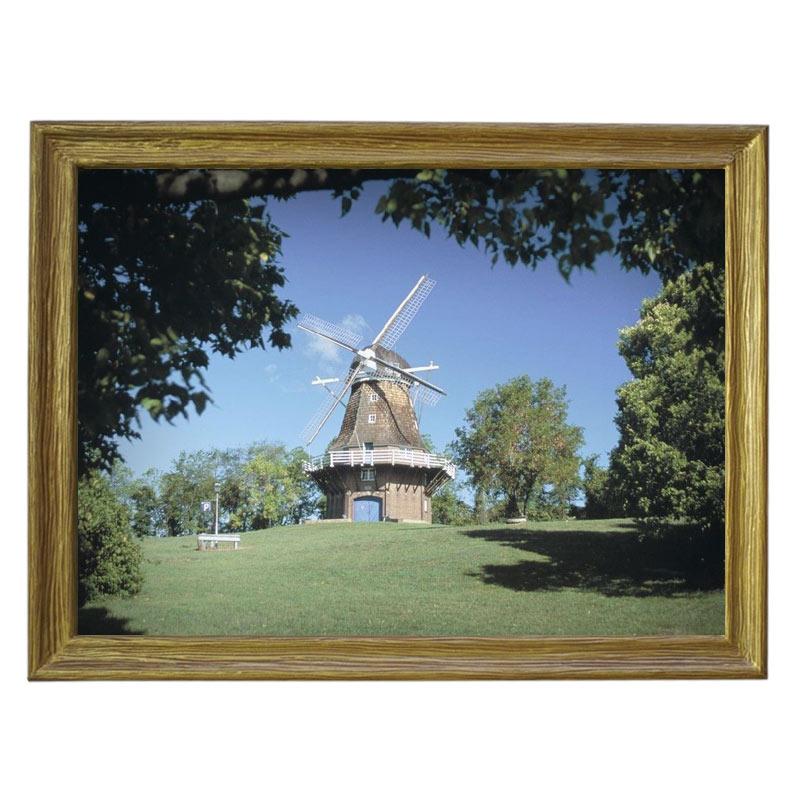 Картина обогреватель «Ветреная мельница» в рамке ПВХ 70X90 см. (0.5 кВт.)