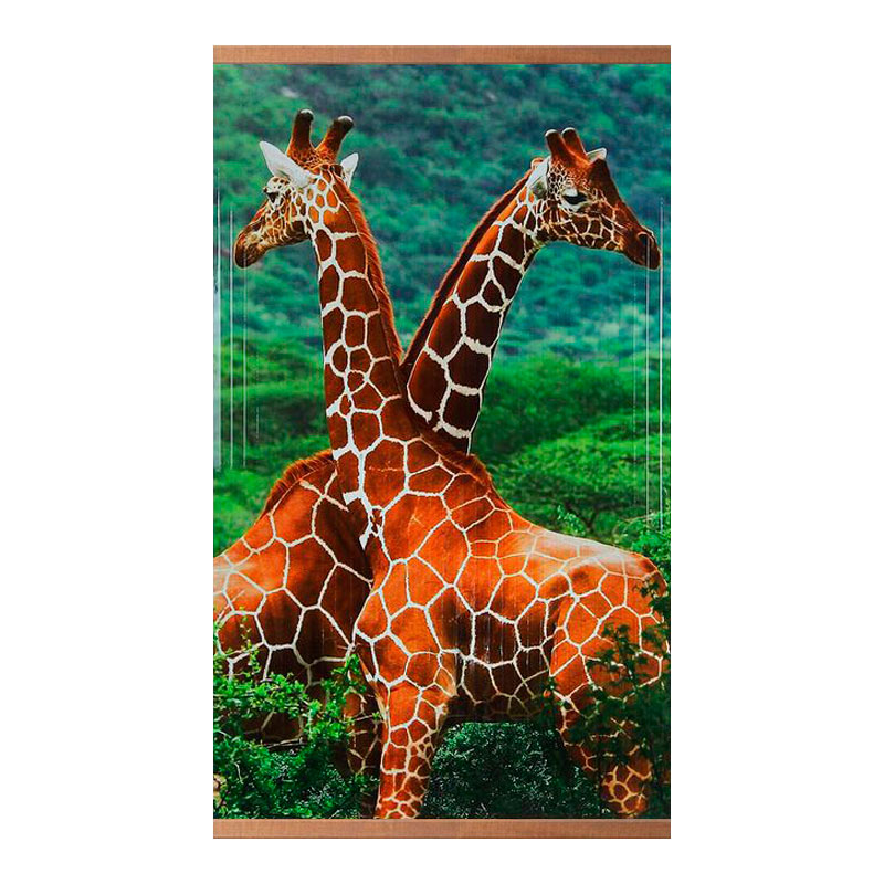 Домашний очаг «Жирафы» 60X105 см. (0.5 кВт.)
